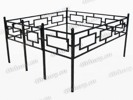 Сварная ограда Квадрат
