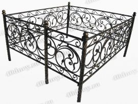 Кованая ограда Селена (витая)