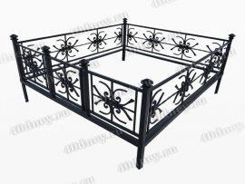 Кованая ограда Снежинка