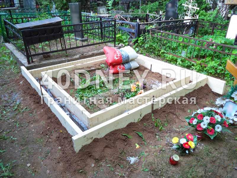 Заказать цоколь из бетона на могилу недорого бетон из пены
