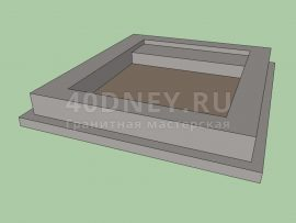 Схема ленточного фундамена на могилу