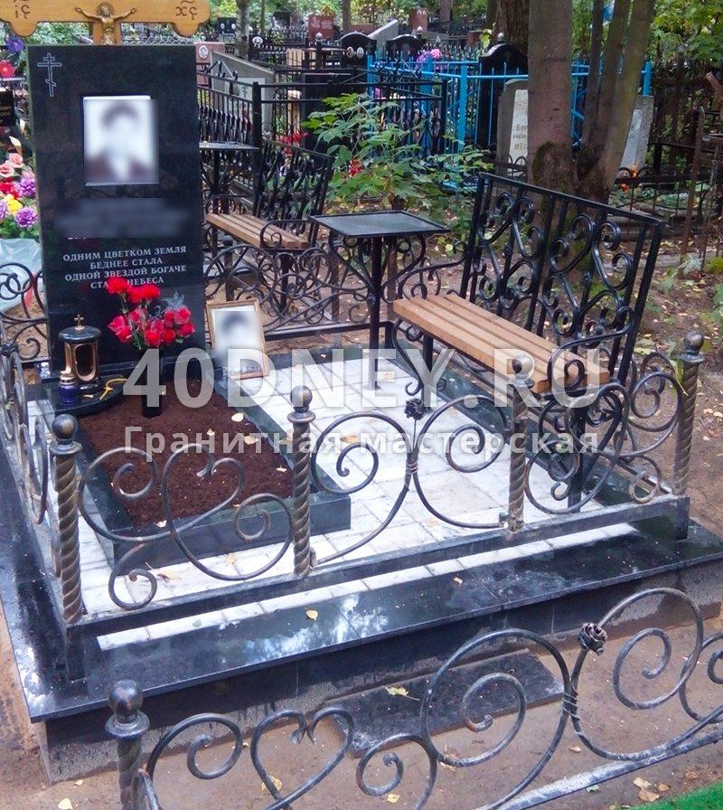 ограды на кладбище фото в москве