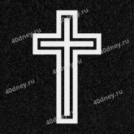 Крест №Д010 (католический с двойным контуром)