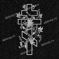 Крест с цветком №Д033