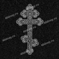 Узорный шестиконечный крест для гравировки №Д035