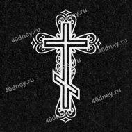 Узорный крест для гравировки №Д038