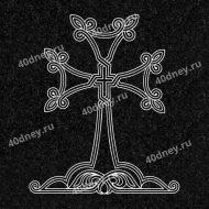 Армянский крест для гравировки №Д040