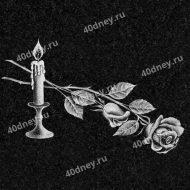 Свеча на памятник №Д201 (с розой)