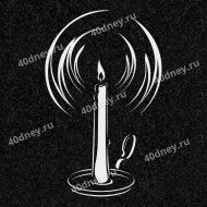 Свеча на памятник №Д204