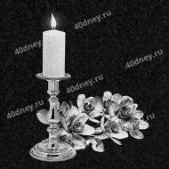 Свеча на памятник №Д224 (с цветами)