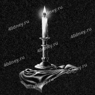 Гравировка свечи на памятник №Д230 (на столе)