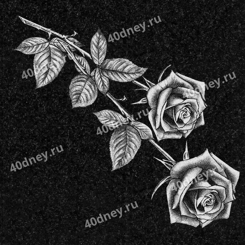 розы на гранитном памятнике фото