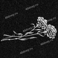 Цветы на памятник №Д106 (Гвоздики)