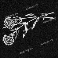 Цветы для гравировки №Д107 (Две гвоздики)
