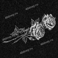 Цветы на памятник №Д108 (Две розы)