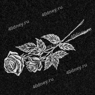Цветы на памятник №Д111 (Две розы)