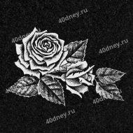 Цветы на памятник №Д112 (Розы)
