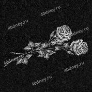 Цветы на памятник №Д113 (Две розы)