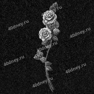Цветы для гравировки №Д114 (ветка розы)