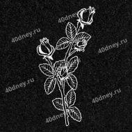 Цветы на памятник №Д115 (две ветки розы)
