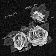 Цветы на памятник №Д119 (три розы)