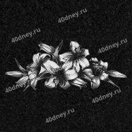 Цветы на памятник №Д125 (лилии)