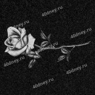 Цветы на памятник №Д131 (одна роза)
