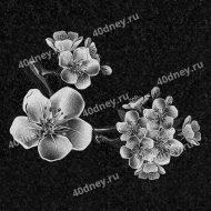 Цветки яблони на памятник №Д132
