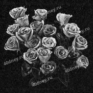 Букет роз для гравировки на памятник №Д139