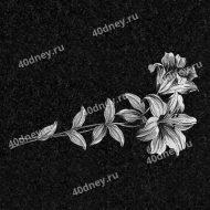 Цветы на памятник №Д146 (лилии)