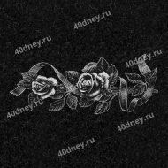 Цветы на памятник №Д151 (розы с лентой)