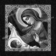 Изображение богородицы с младенцем Иисусом для гравировки №Д451