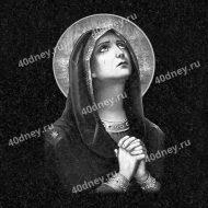 Молящаяся Дева Мария - гравировка №Д453