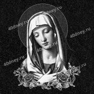 Изображение Девы Марии для нанесения на памятник №Д455