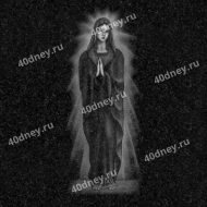 Гравировка №Д457 - Богородица в полный рост