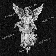 Ангел на памятник для гравировки №Д462
