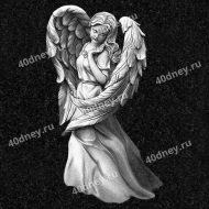Гравировка ангела на памятнике №Д467