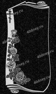 №Д711 - фигурная рамка с розами и крестом