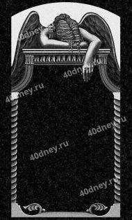 Скорбящий ангел на памятник - гравировка №Д724