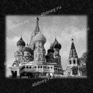 Храм Василия Блаженного - гравировка на памятник №Д602