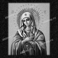 Икона для гравировки на памятник с Богородицей №Д311