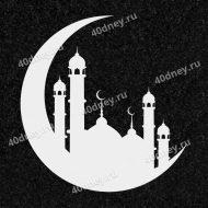 №Д906 - изображение мечети для гравировки на памятник