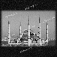 Изображение мечети для гравировки №Д923