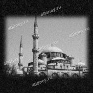 Гравировка мечети на памятнике №Д924