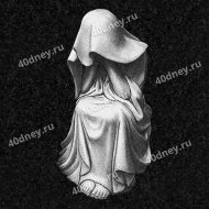 Гравировка плакальщицы (скорбящей фигуры) на памятник №Д669