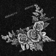 Виньетка для памятника №Д522 (Уголок с тремя розами)