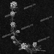 Виньетка на надгробие №Д525 (Уголок из розами)