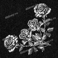 Виньетка на памятник №Д528 (Четыре розы)
