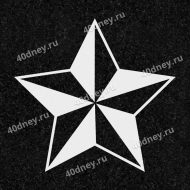 Гравировка военной тематики №Д354 (Звезда с гранями)