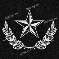 Звезда и две лавровые ветви для гравировки №Д356
